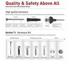 "Barkan 3420 - 4 pohybový do 400x400mm, pro TV 29""-58"" (74-147cm), do 25kg  - 5"
