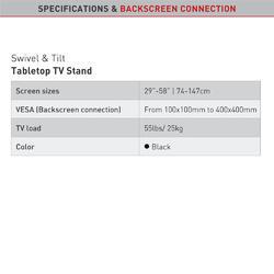 BAR S320.B natáčecí stojan pro TV  - 5