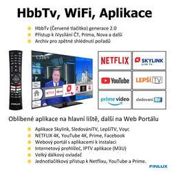 Finlux TV43FUF8261 -  HDR UHD T2 SAT HBBTV WIFI SKYLINK LIVE - TENKÁ  - 5