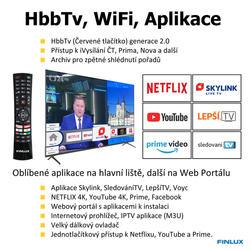 Finlux TVF65FUF7161 - HDR,UHD, T2 SAT,  HBB TV, WIFI, SKYLINK LIVE  - 5