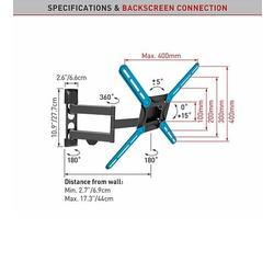 "Barkan 3400 - 4 pohybový do 400x400mm, pro TV 29""-65"" (74-165cm), do 40kg  - 6"