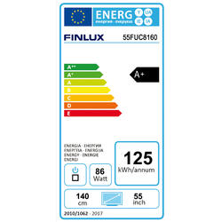 Finlux TV55FUC8160 -  HDR UHD T2 SAT WIFI SKYLINK LIVE  - 7