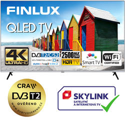 Finlux TVF65FUF9060 - QLED HDR UHD T2 SAT WIFI SKYLINK LIVE BEZRÁMOVÁ-  - 7