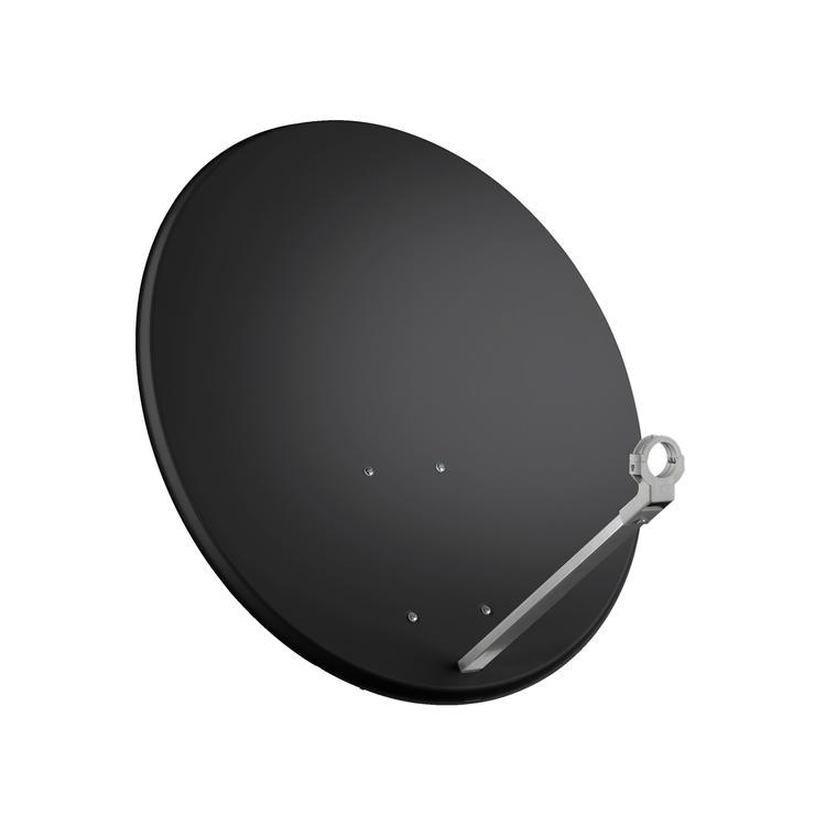 Sat.antena 80cm, hliník, antracit, zadní držák ocel. 15015308, Krabička : 57845325